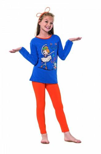 Blue Kids Pajamas 6110