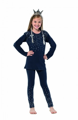 ملابس نوم للأطفال أزرق كحلي 6114