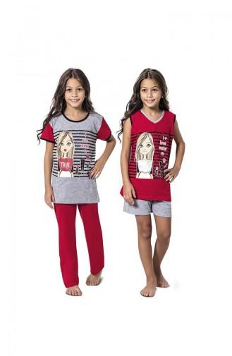 Gray Kids Pajamas 7050