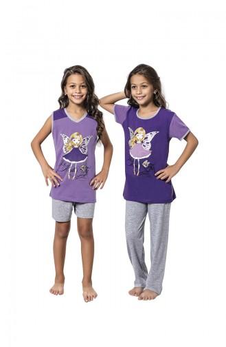 Purple Kids Pajamas 7060