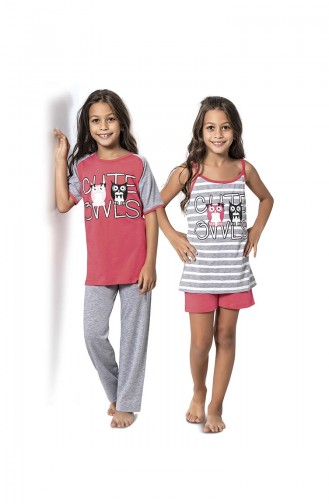 ملابس نوم للأطفال مرجاني فاتح 7062
