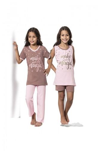 Bronzfarben Kinderpyjama 7065
