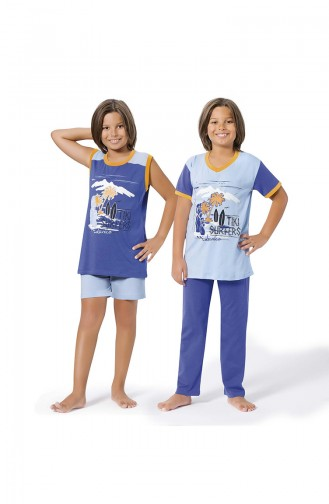 ملابس نوم للأطفال أزرق فاتح 8055