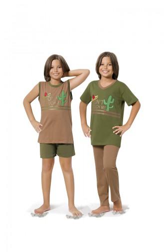 Khaki Kids Pajamas 8061