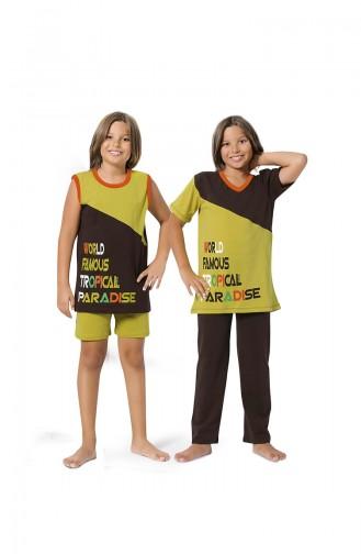 ملابس نوم للأطفال أخضر 8065