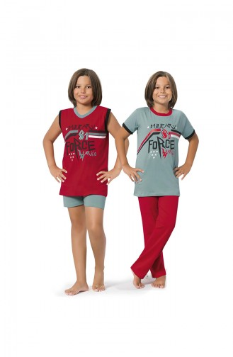 ملابس نوم للأطفال أخضر 8069