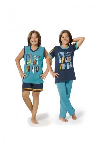 ملابس نوم للأطفال أزرق كحلي 8073