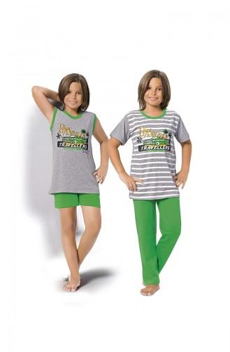 Grün Kinderpyjama 8074