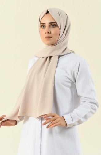 Elina Cazmin Düz Şal 700-114 Krem