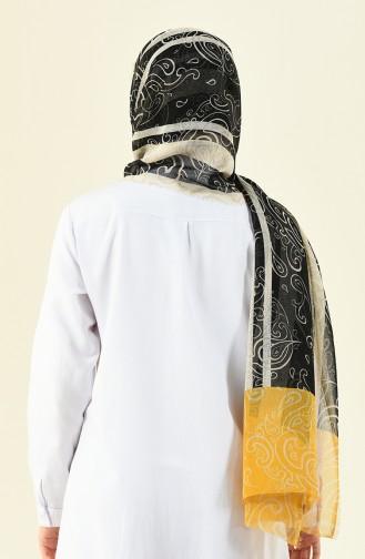 شال موسمي منقوش أصفر 901532-06