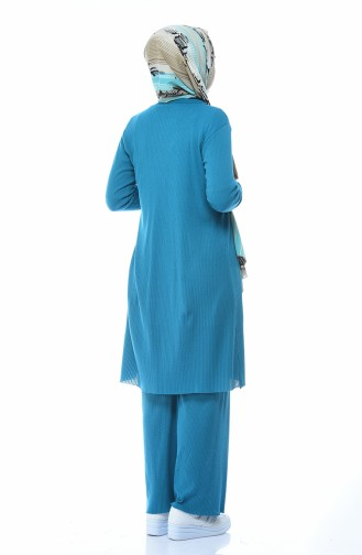 طقم أزرق زيتي 7702-03
