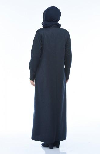 Navy Blue Abaya 8212-02