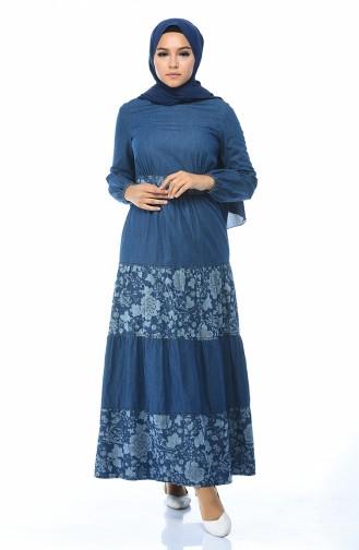 فستان أزرق كحلي 4068A-04