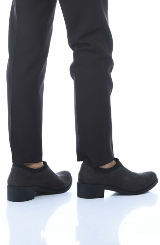 Bayan Ayakkabı 0066K-01 Füme Süet