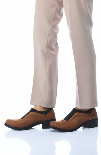 Chaussures Pour Femme 0066K-02 Tabac Daim 0066K-02