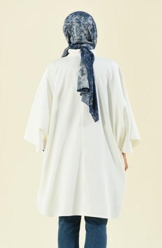 معطف بيج فاتح سحاب مخفي 5006-01