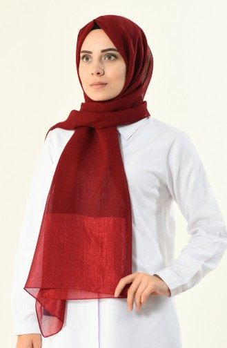 claret red, Silver Shimmer Shawl 13004-35