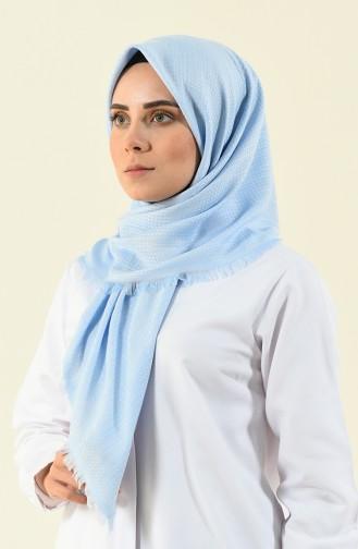 Baby Blue Eleven square shawl 13120-02