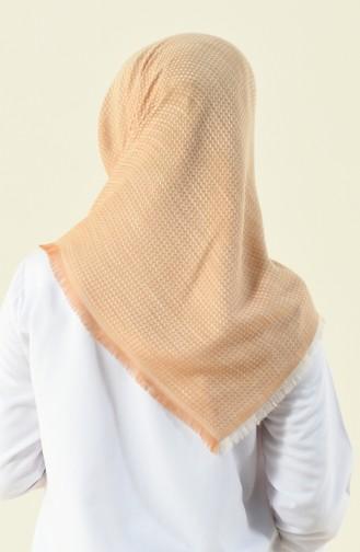 Beige Eleven square shawl 13120-04
