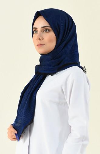 dark blue Eleven square shawl 13120-05
