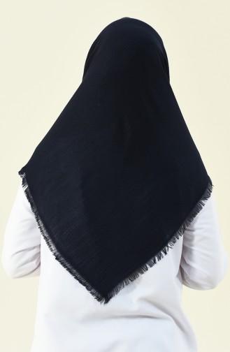 Navy blue Eleven square shawl 13120-07