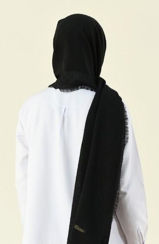 Pamuklu Pıtpıt Şal 901535-08 Siyah