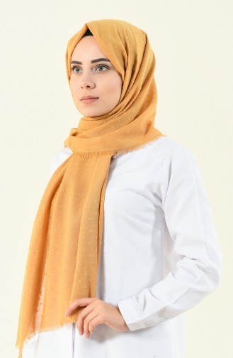 Shawl cotton plaid light brown 901535-13