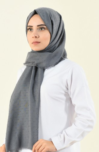 Shawl cotton plaid gray color 901535-14