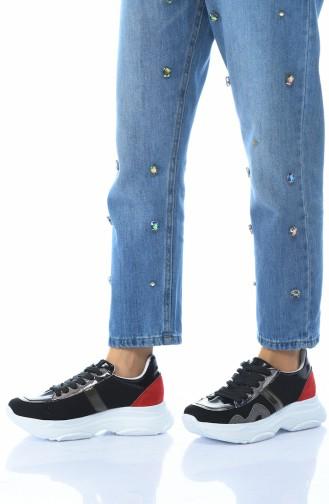 أحذية رياضية أسود 0200K-01