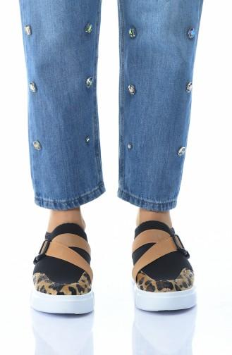 Bayan Spor Ayakkabı A0105-01 Leopar