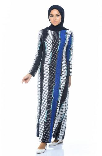 فستان أزرق 1077-01