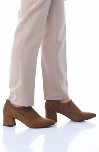 أحذية الكعب العالي أخضر تبغ 0905K-02