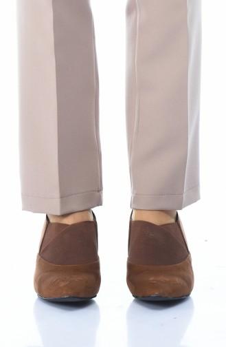 أحذية الكعب العالي أخضر تبغ 0911K-01