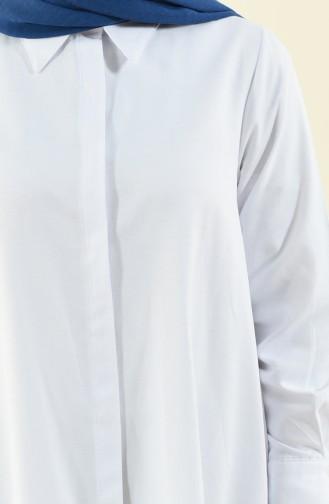 Oxfod Salaş Tunik 5828-01 Beyaz