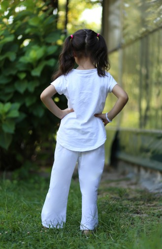 سراويل الأطفال وحديثي الولادة أبيض 25080-01