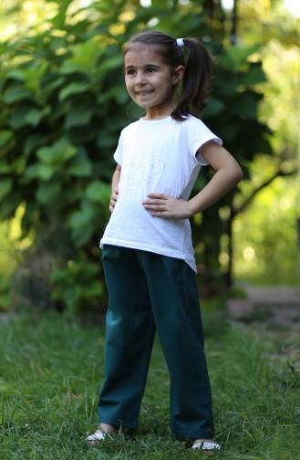 Pantalon Enfant et Bébé Pétrole 25080-02