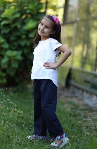 Dunkelblau Kinder und Baby-Hosen 25082-03