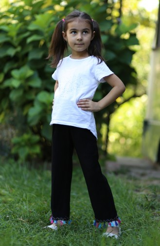 Schwarz Kinder und Baby-Hosen 25082-04
