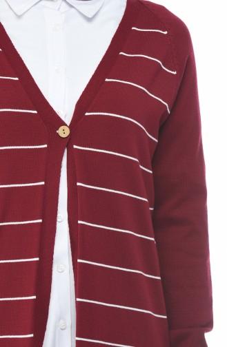 Claret red Cardigan 4161-02