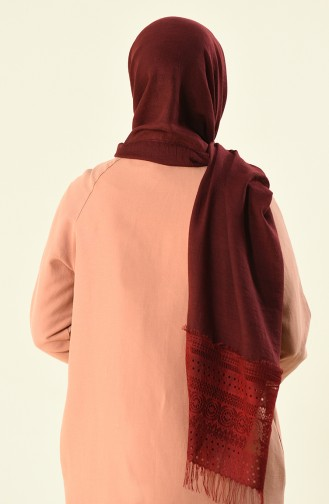 Claret red Shawl 1013-12