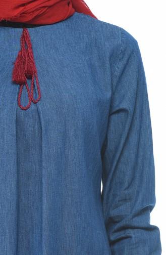 Nakışlı Tunik Pantolon İkili Takım 9588-01 Lacivert