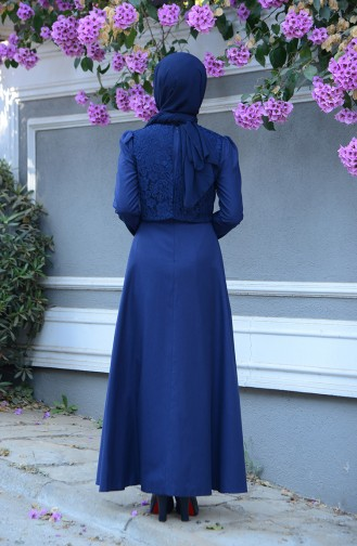 Navy Blue Dress 9032-04