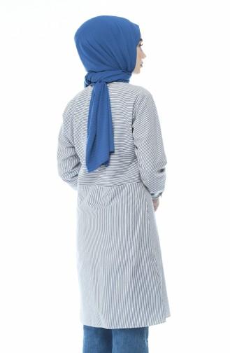Tunique a Rayures 4435-02 Bleu Marine 4435-02