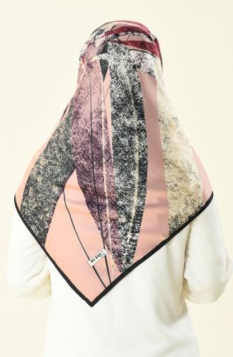 Karaca Patterned Rayon Scarf Black Pawder 90592-06