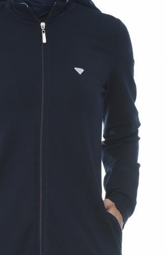 Abaya Sport a Rayures 9097-01 Bleu Marine 9097-01