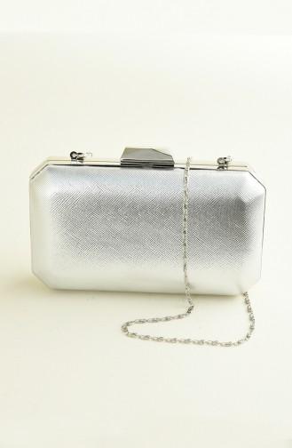 Silbergrau Portfolio Handtasche 0277-07