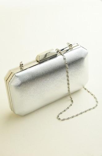 حقيبة يد رمادي فضي 0277-07