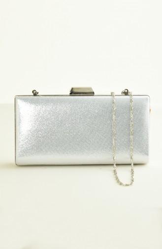 Silbergrau Portfolio Handtasche 0279-02