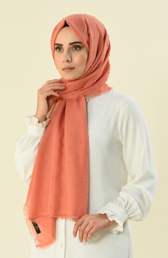 Pompon Shawl Orange 19042-41