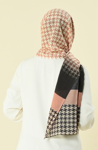 patterned cotton shawl Light Brown 95298-07